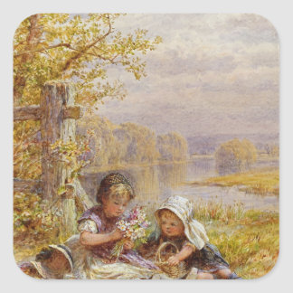 A Posy for Mother, 1867 Square Sticker