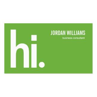 A Powerful Hi - Modern Business Card - Green Business Card Templates