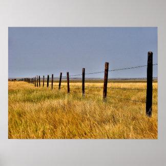 A Prairie Mile Framed Poster