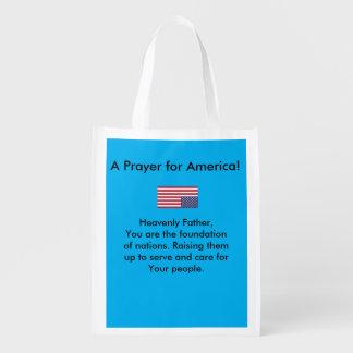 A prayer for America tote bag