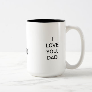 A Present For Dad Two-Tone Coffee Mug
