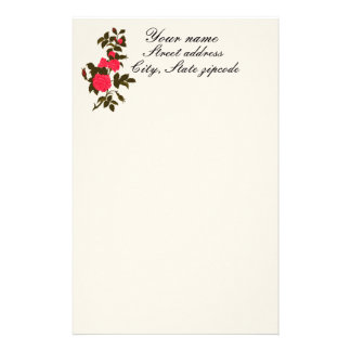 A Pretty Branch of Pink Roses Stationery