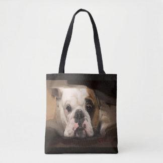 A Pretty Face Bulldog Tote