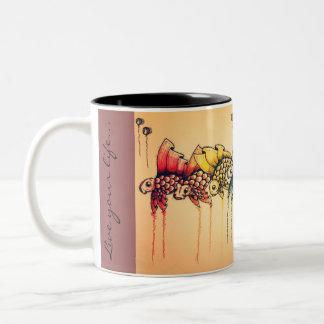 A pride of fish Two-Tone coffee mug