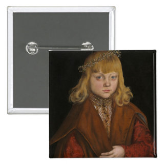 A Prince of Saxony, c.1517 (oil on panel) 15 Cm Square Badge