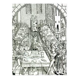 A Princely Banquet, 1491 Postcard