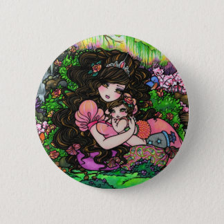 """A Princess is Born"" Fantasy Baby Art Hannah Lynn 6 Cm Round Badge"