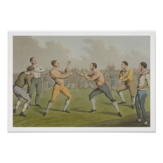 A Prize Fight, aquatinted by I. Clark, pub. by Tho Poster