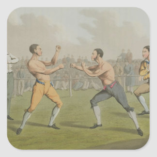 A Prize Fight, aquatinted by I. Clark, pub. by Tho Square Sticker