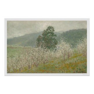 A Prune Orchard, Saratoga, California (1170) Poster