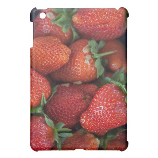 a punnet of ripe fresh strawberries for sale in iPad mini cover