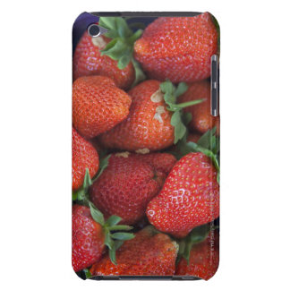 a punnet of ripe fresh strawberries for sale in iPod Case-Mate case