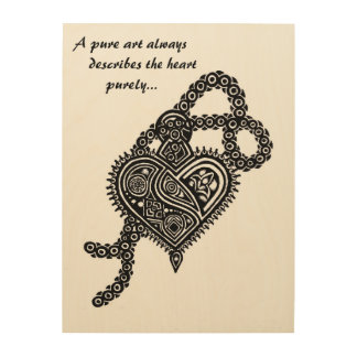 A pure art love locket wood art