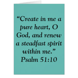 """A Pure Heart"" Scripture Greeting Card"