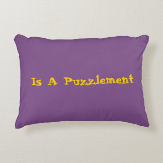A Puzzlement Pillow