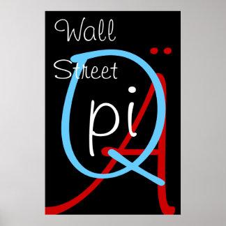 a q pi wall street print