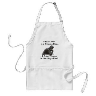 A Quiet Man is a Thinking Man Standard Apron