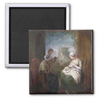 A Quiet Time, c.1810 (oil on canvas) Square Magnet