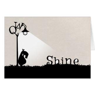 A Qwirky, Shiny Greeting Card. Card