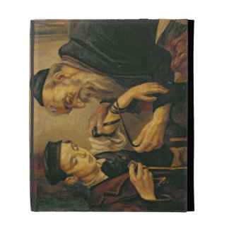 A Rabbi tying the Phylacteries to the arm of a boy iPad Case