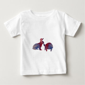 A rabbit and a tortoise baby T-Shirt