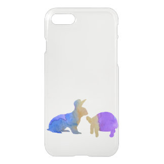 A rabbit and a tortoise iPhone 8/7 case