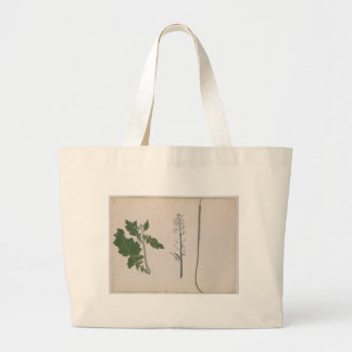 A Radish Plant, Seed, and Flower Large Tote Bag