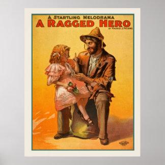 A Ragged Hero Vintage Poster
