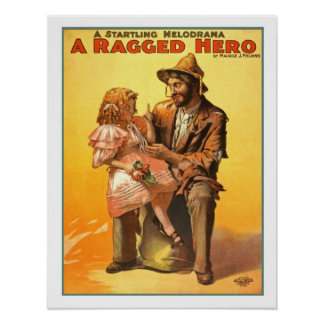 A Ragged Hero Vintage Poster