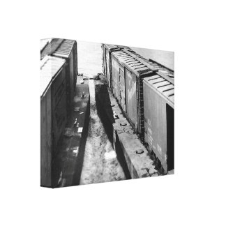 A Railroad Car float Canvas Print