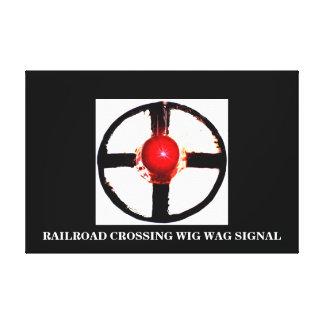 A Railroad Crossing Wig Wag Canvas Print