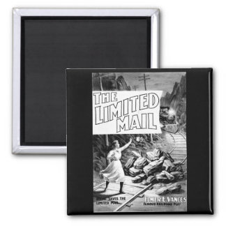 A Railroad Play -The Limited Mail 1899 Square Magnet