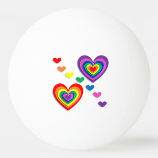 A Rainbow For My Valentine Ping Pong Ball