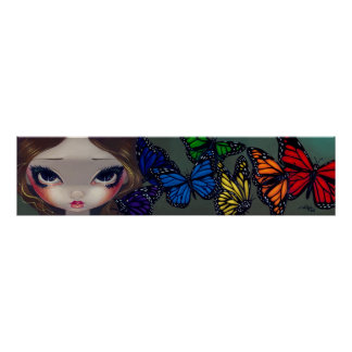 A Rainbow of Butterflies fairy Art Print