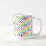 A Rainbow Of Peace Signs Basic White Mug