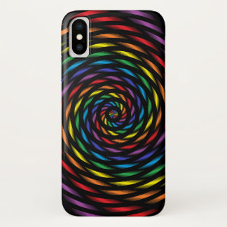 A Rainbow Pinwheel in Motion iPhone X Case