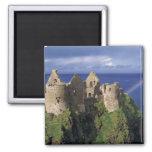 A rainbow strikes mediaeval Dunluce Castle on