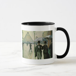 A Rainy Day in Paris by Gustave Caillebotte Mug