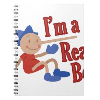 A Real Boy! Spiral Notebooks