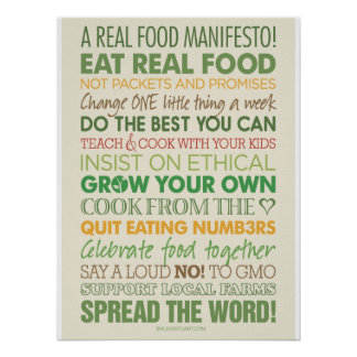 A Real Food Manifesto Poster
