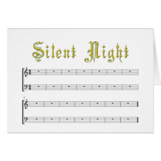 A really Silent Night blank card