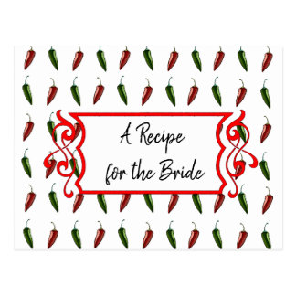 A Recipe For the Bride Wedding Recipe Card