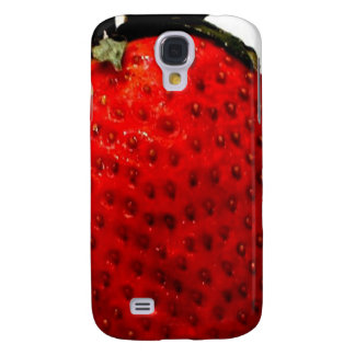 A red ripe strawberry, ready to be eaten, yummy samsung galaxy s4 cover