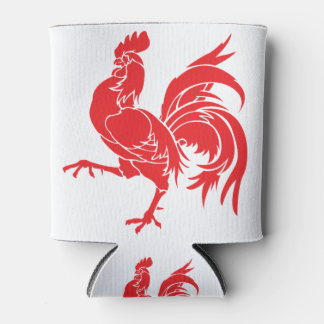 A Red Rooster Can Cooler