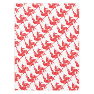 A Red Rooster Tablecloth