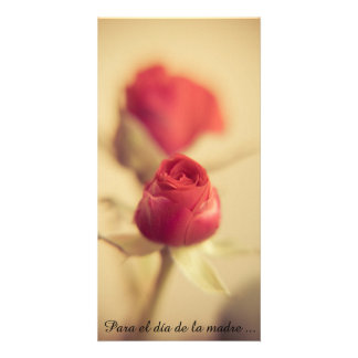 A red rose for the mother… personalised photo card