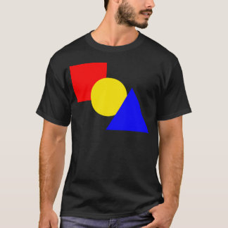 A Red Square, Yellow Circle, And Blue Triangle T-Shirt