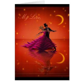 A Red Waltz Card