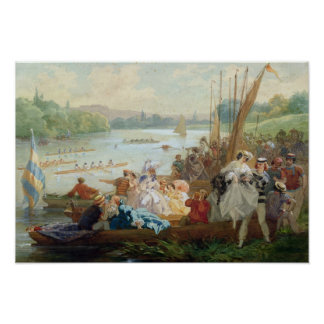 A Regatta at Asnieres during the Second Empire Poster