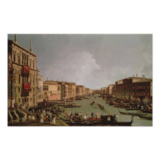 A Regatta on the Grand Canal, c.1735 Poster